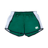 Ladies Dark Green/White Team Short-OBU Wordmark