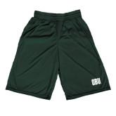 Performance Classic Dark Green 9 Inch Short-OBU Wordmark
