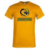 Gold T Shirt-NCCAA Womens Tennis Champions 2017