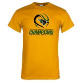 Gold T Shirt-NCCAA Mens Tennis Champions 2017