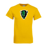 Gold T Shirt-Charging Bison
