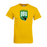 Gold T Shirt-Shield Logo