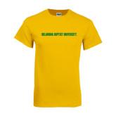 Gold T Shirt-Oklahoma Baptist University Flat
