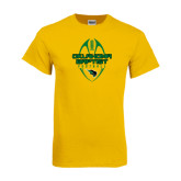 Gold T Shirt-Oklahoma Football Vertical