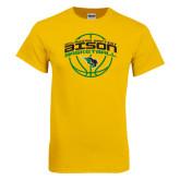 Gold T Shirt-Bison Basketball w/ Ball