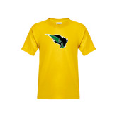 Youth Gold T Shirt-Power Bison