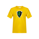 Youth Gold T Shirt-Charging Bison