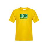 Youth Gold T Shirt-Basketball