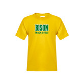 Youth Gold T Shirt-Track & Field