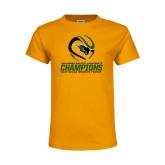 Youth Gold T Shirt-NCCAA Womens Tennis Champions 2017