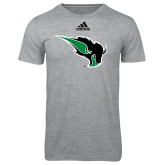 Adidas Sport Grey Logo T Shirt-Power Bison