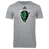 Adidas Sport Grey Logo T Shirt-Charging Bison