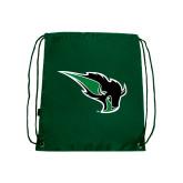 Dark Green Drawstring Backpack-Power Bison