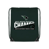 Dark Green Drawstring Backpack-NCCAA National Champions Mens Outdoor Track and Field