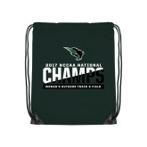 Dark Green Drawstring Backpack-NCCAA National Champions Womens Outdoor Track and Field