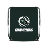 Dark Green Drawstring Backpack-NCCAA Womens Tennis Champions 2017