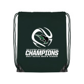 Dark Green Drawstring Backpack-NCCAA Mens Tennis Champions 2017