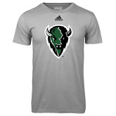 Adidas Climalite Sport Grey Ultimate Performance Tee-Charging Bison