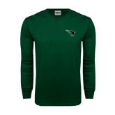 Dark Green Long Sleeve T Shirt-Power Bison
