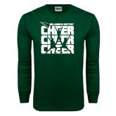 Dark Green Long Sleeve T Shirt-Cheer Stacked