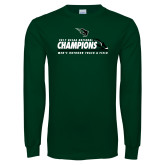 Dark Green Long Sleeve T Shirt-NCCAA National Champions Mens Outdoor Track and Field