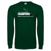 Dark Green Long Sleeve T Shirt-NCCAA National Champions Womens Outdoor Track and Field