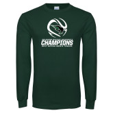 Dark Green Long Sleeve T Shirt-NCCAA Mens Tennis Champions 2017