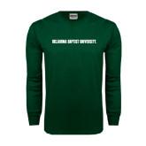 Dark Green Long Sleeve T Shirt-Oklahoma Baptist University Flat