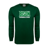Dark Green Long Sleeve T Shirt-Swimming & Diving