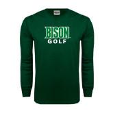 Dark Green Long Sleeve T Shirt-Golf