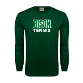 Dark Green Long Sleeve T Shirt-Tennis