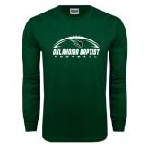 Dark Green Long Sleeve T Shirt-Oklahoma Football Horizontal