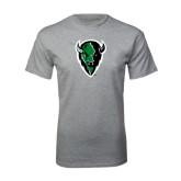 Grey T Shirt-Charging Bison