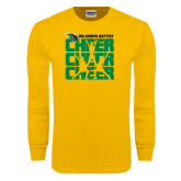 Gold Long Sleeve T Shirt-Cheer Stacked