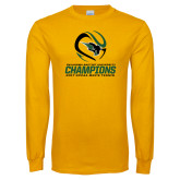 Gold Long Sleeve T Shirt-NCCAA Mens Tennis Champions 2017