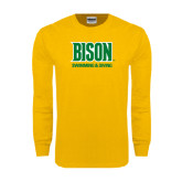 Gold Long Sleeve T Shirt-Swimming & Diving