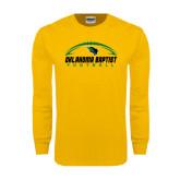 Gold Long Sleeve T Shirt-Oklahoma Football Horizontal