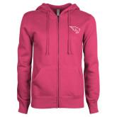 ENZA Ladies Fuchsia Fleece Full Zip Hoodie-Power Bison