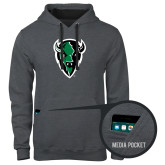 Contemporary Sofspun Charcoal Heather Hoodie-Charging Bison