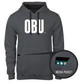 Contemporary Sofspun Charcoal Heather Hoodie-OBU Wordmark