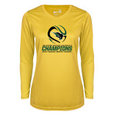Ladies Syntrel Performance Gold Longsleeve Shirt-NCCAA Mens Tennis Champions 2017