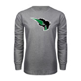 Grey Long Sleeve T Shirt-Power Bison