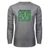 Grey Long Sleeve T Shirt-Cheer Stacked