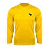 Syntrel Performance Gold Longsleeve Shirt-Power Bison
