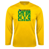 Syntrel Performance Gold Longsleeve Shirt-Cheer Stacked