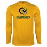 Syntrel Performance Gold Longsleeve Shirt-NCCAA Mens Tennis Champions 2017
