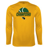 Syntrel Performance Gold Longsleeve Shirt-NCCAA Mens Tennis Champions 2017 - Half Ball