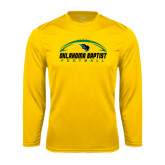 Syntrel Performance Gold Longsleeve Shirt-Oklahoma Football Horizontal