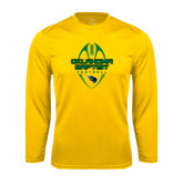 Syntrel Performance Gold Longsleeve Shirt-Oklahoma Football Vertical