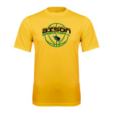 Syntrel Performance Gold Tee-Bison Basketball w/ Ball